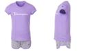 Champion Toddler Girls 2-Pc. Classic Logo T-Shirt & Allover Script Logo French Terry Shorts Set