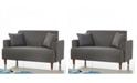 Us Pride Furniture Blagdon Modern Upholstery Loveseat
