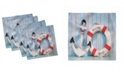 "Ambesonne Buoy Set of 4 Napkins, 12"" x 12"""