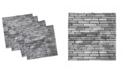 "Ambesonne Wall Theme Set of 4 Napkins, 12"" x 12"""
