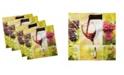 "Ambesonne Wine Set of 4 Napkins, 12"" x 12"""
