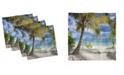"Ambesonne Palm Tree Set of 4 Napkins, 12"" x 12"""