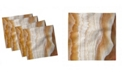 "Ambesonne Marble Set of 4 Napkins, 12"" x 12"""