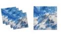 "Ambesonne Mountain Set of 4 Napkins, 12"" x 12"""