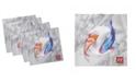"Ambesonne Koi Fish Set of 4 Napkins, 12"" x 12"""