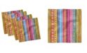 "Ambesonne Striped Set of 4 Napkins, 12"" x 12"""