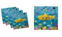 "Ambesonne Submarine Fish Set of 4 Napkins, 12"" x 12"""