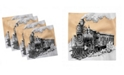 "Ambesonne Steam Engine Set of 4 Napkins, 12"" x 12"""