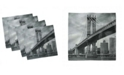 "Ambesonne New York Set of 4 Napkins, 12"" x 12"""