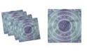 "Ambesonne Dark Mandala Set of 4 Napkins, 12"" x 12"""