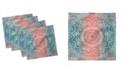 "Ambesonne Modern Mandala Set of 4 Napkins, 12"" x 12"""