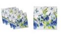 "Ambesonne Summer Flora Set of 4 Napkins, 12"" x 12"""