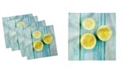"Ambesonne Halved Lemon Set of 4 Napkins, 12"" x 12"""
