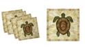 """Ambesonne Turtle Set of 4 Napkins, 12"""" x 12"""""""