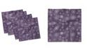 "Ambesonne Eggplant Set of 4 Napkins, 12"" x 12"""
