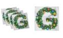 "Ambesonne Letter G Set of 4 Napkins, 12"" x 12"""