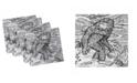 "Ambesonne Bigfoot Set of 4 Napkins, 12"" x 12"""