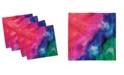 "Ambesonne Tie Dye Set of 4 Napkins, 12"" x 12"""