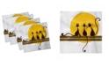 "Ambesonne Animal Art Set of 4 Napkins, 12"" x 12"""