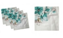 "Ambesonne Flower Bloom Set of 4 Napkins, 18"" x 18"""