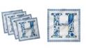 "Ambesonne Letter H Set of 4 Napkins, 18"" x 18"""