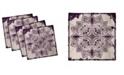 "Ambesonne Snowflake Form Set of 4 Napkins, 18"" x 18"""