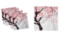 """Ambesonne Floral Set of 4 Napkins, 18"""" x 18"""""""