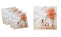 "Ambesonne Bicycle Set of 4 Napkins, 18"" x 18"""