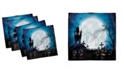 "Ambesonne Halloween Set of 4 Napkins, 18"" x 18"""
