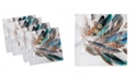 """Ambesonne Feathers Set of 4 Napkins, 18"""" x 18"""""""