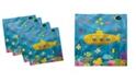 "Ambesonne Submarine Fish Set of 4 Napkins, 18"" x 18"""