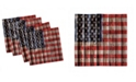 """Ambesonne 4th of July Set of 4 Napkins, 18"""" x 18"""""""