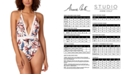 Anne Cole STUDIO Printed Plunge One-Piece Swimsuit