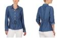 Adyson Parker Drawstring-Waist Chambray Shirt