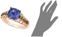 Le Vian Tanzanite (2 ct. t.w.) and Chocolate Diamond (1/5 ct. t.w.) Accent Ring in 14k Rose Gold, Created for Macy's