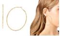 "Jessica Simpson Hammered Texture Hoop Earrings, 2.75"""
