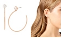 "Jessica Simpson CZ Stone Hoop Earrings, 2.3"""