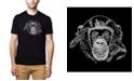 LA Pop Art Men's Premium Word Art T-shirt - Chimpanzee