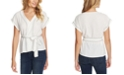 1.STATE Trendy Plus Size Contrast-Stitch Top