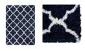 "Global Rug Designs Barnes Bar04 Navy and Ivory 7'10"" x 10'2"" Area Rug"