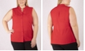 NY Collection Women's Plus Size Sleeveless Utility Shirt