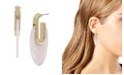 Kenneth Cole New York Gold-Tone Marble Sculptural Hoop Earrings