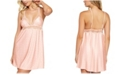 iCollection Lace Trim Chemise Nightgown, Online Only