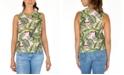 Rebellious One Juniors' Cotton Toucan-Print Tank Top