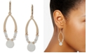 lonna & lilly Gold-Tone Mother-of-Pearl Beaded Open Drop Earrings
