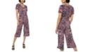 Michael Kors Paisley-Print Cropped Jumpsuit