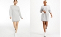 INC International Concepts CULPOS x INC Long-Sleeve Knit Mini Dress, Created for Macy's