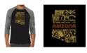 LA Pop Art Az Pics Men's Raglan Word Art T-shirt