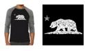 LA Pop Art California Dreaming Men's Raglan Word Art T-shirt