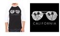 LA Pop Art California Shades Men's Raglan Word Art T-shirt